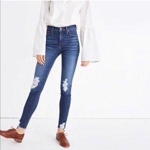 """Madewell 9"""" high rise skinny Kurt wash jeans"""